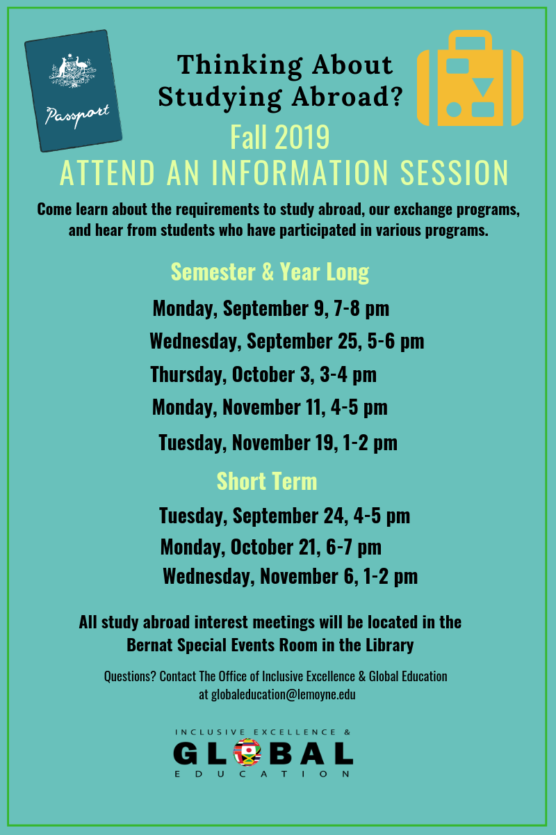 Fall 2019 info sessions